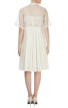 off-white sheer dress