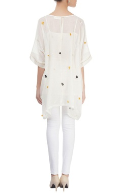 Off-white kaftan top
