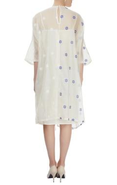 off-white midi dress