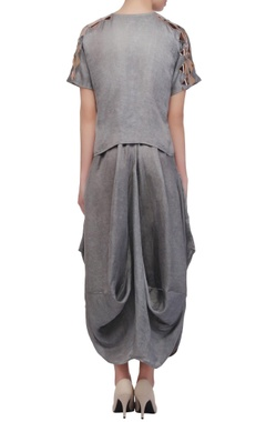 Ash grey boxy top