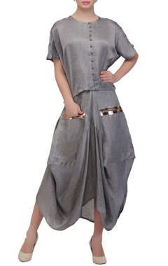 Ash grey dhoti skirt