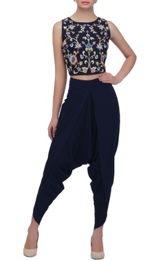 navy blue dhoti pants