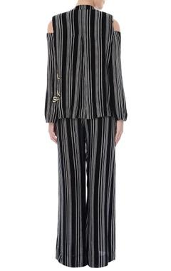 Black & white striped jacket & pants