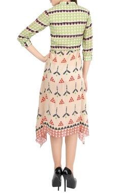 Multi-colored printed dress