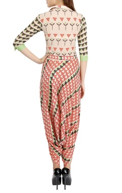 Multi-colored printed jumpsuit