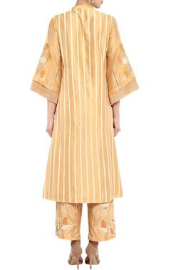 Caramel striped kurta set