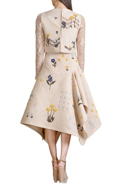 Beige quilted skirt