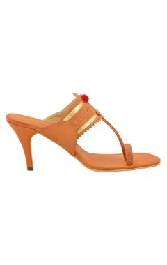 Tan kolhapuri pencil heels