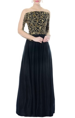 black embellished anarkali gown