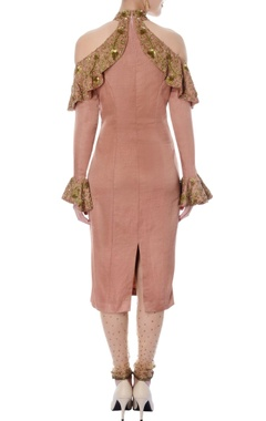 onion pink cold shoulder kurta