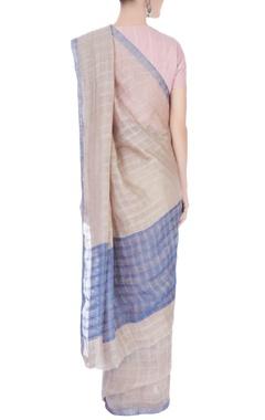 Beige linen sari