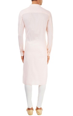 pastel pink  kurta with yoke