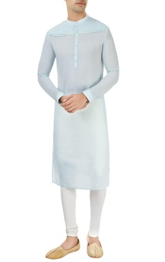 Dev R Nil - Men light blue kurta with yoke