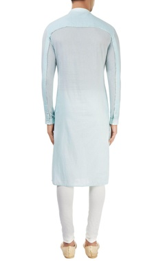 light blue kurta with yoke