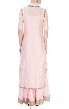 Pastel pink maxi with kurta & dupatta