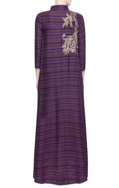 Purple embroidered kurti