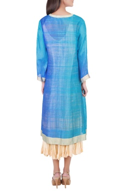 royal blue tunic with dupatta