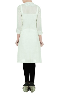 Off white embellished kurti