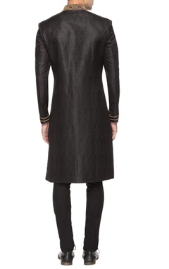 Black sherwani with embroidery details