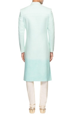 Blue shaded sherwani