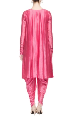 pink kurta set with dhoti pants