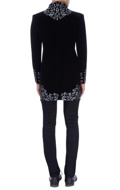 Black embroidered sherwani