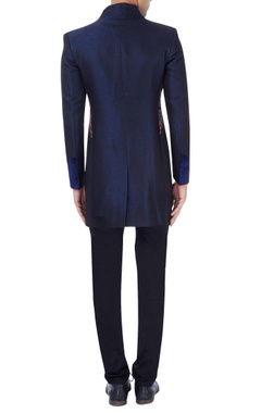 Blue sherwani with embroidery