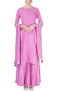 Candy pink sharara set