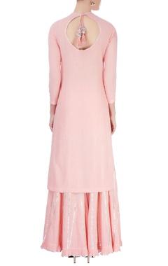 Pastel pink sharara set