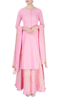 Bubblegum pink sharara set