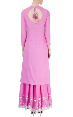 Candy pink kurta & sharara set