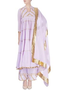 Sukriti & Aakriti Lavender flared kurta with palazzo