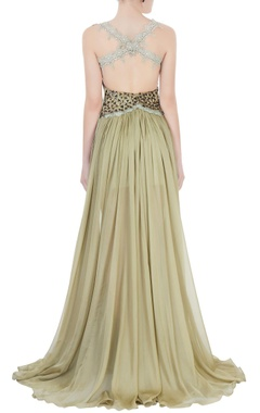 Hazel green embellished gown
