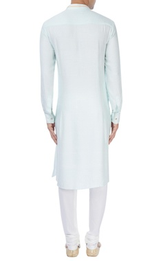 Mint blue embellished kurta set