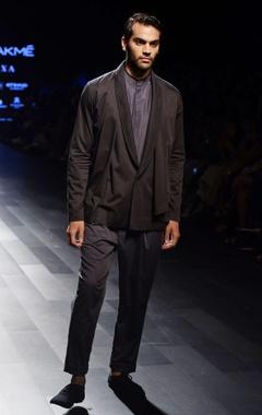 Charcoal grey layered jacket