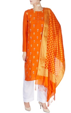 Monisha Jaising Orange kurta with dupatta