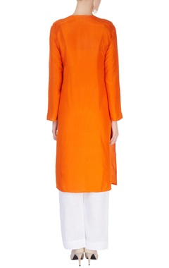 Orange kurta with dupatta