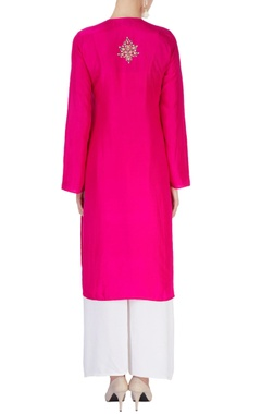 Hot pink kurta with dupatta