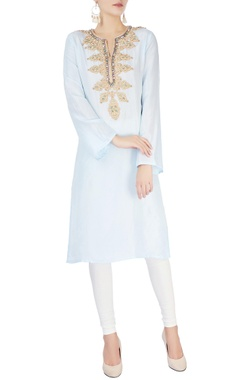 Monisha Jaising Light blue studded kurta