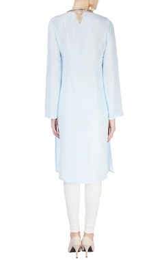 Light blue studded kurta