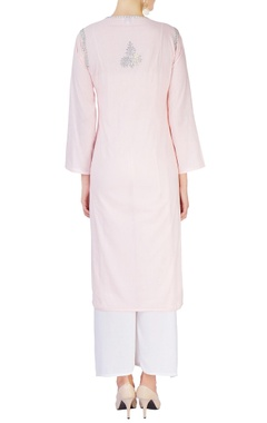 Light pink kurta with sequin