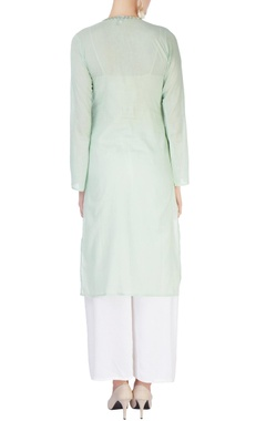 Light green embellished kurta