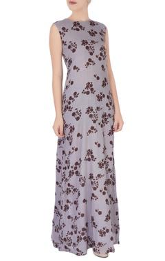 Light purple floral print dress