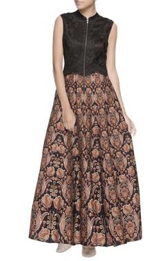 Black lace designed gown