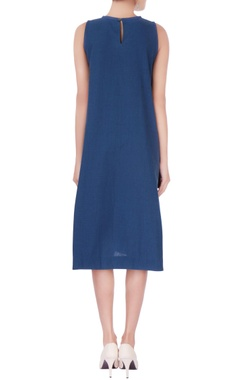 Blue a-line dress with pockets