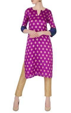 Purple ethnic motif kurta