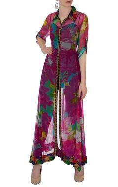 Multicolored floral print shirt kurta