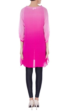 Pink tunic with embellished collar
