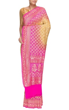 Multicolored banarasi bandhani sari