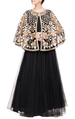 Black embroidered classic lehenga